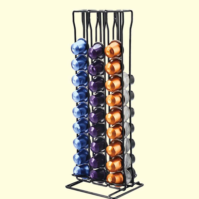Practical Coffee Capsule Holder Tower Stand For 60 Nespresso Capsules Storage Soporte Capsulas Nespresso Coffee Pod Holder