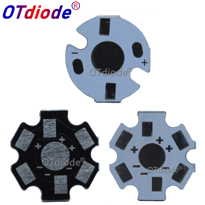 10-1000PCS 1W3W5W HeatSink LED Aluminum Base Plate PCB Board Substrate 20mm Star 16mm Kit DIY Cooling 20 Mm For 1 3 5 W Watt