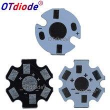 Placa de base de alumínio led, dissipador de calor, 20mm estrela 16mm, kit diy, 10-1000 peças refrigeração 20mm para 1 3 5 w w
