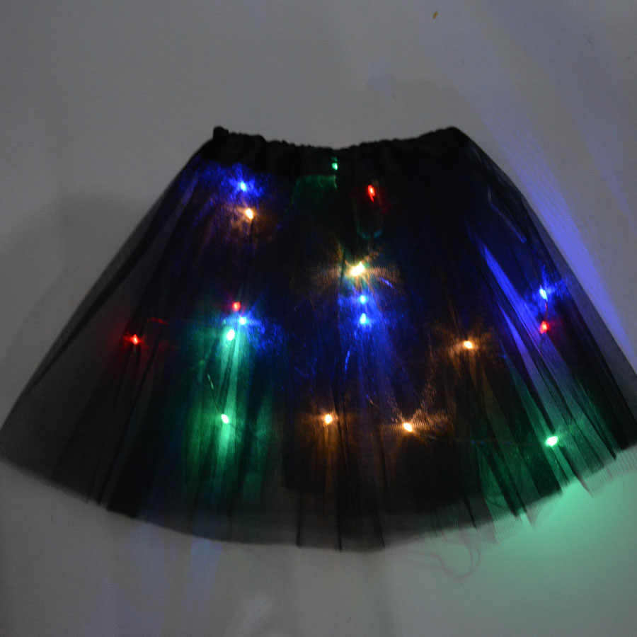 เด็ก LED กระโปรงสีนีออน Tutu เวทีเต้นรำฮาโลวีนสาวกระโปรงเต้นรำคริสต์มาส Navidad
