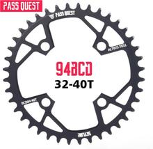 Bicycle ChainWheel Pass Quest 94BCD Round 32T/34T/36T/38T/40T Cycling Chainring MTB Bike Chainwheel Crown BCD 94 for NX GX X1 pass quest 94bcd titanium plated mtb narrow wide chainring chain ring 32t 34t 36t 38t 40t bike chainwheel chain wheel crankset