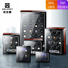 M&Q uhrenbeweger japanese mabuchi motor wooden safe controller led automatic watch winder watch winder box