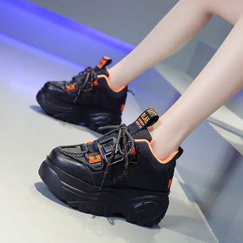 Women Platform Sneakers Lace up Winter Velvet Keep Warm Dad Shoes High Top Chunky Casual Shoes