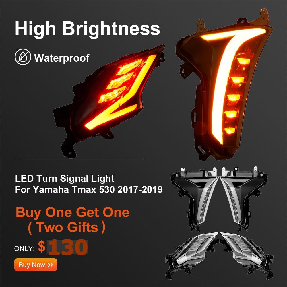 For TMAX 530 Light LED Turn Signal Indicators Front Rear Brake Light For Yamaha TMAX TMAX530 2017 2018 2019 SX DX Models E-MARK