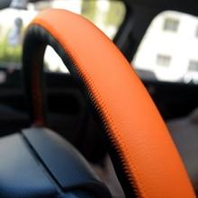 O SHI CAR Universal Sports Steering Wheel Cover 37cm-38cm PU Leather Car Steering-wheel Covers Multicolor Automotive Accessories