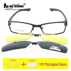 Image 4 - Customize Prescription Eyeglasses Optical Glasses Fill Resin Lenses Myopia Spectacles Fashion Glasses Frame Clip on Sunglasses