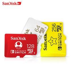 SanDisk новый стиль micro sd карты 128 Гб 64 Гб 256 ГБ micro sd XC UHS-I карты памяти для nintendo Switch TF карта с адаптером