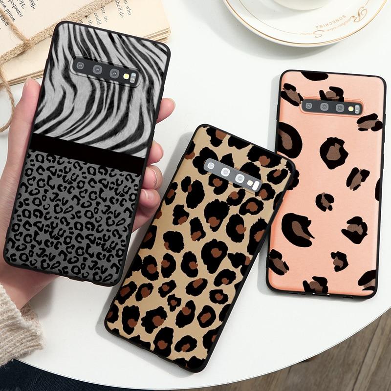 Fashion Leopard Print Case For Samsung Galaxy A10 A30 A40 A50 A51 A60 A70 A71 A81 A21 S20 Ultra S10 S9 S8 Plus Note 8 9 10 Coque