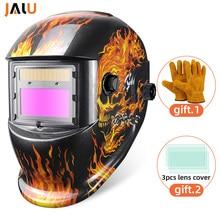Сварочная маска, шлем с перчатками, автоматическая, на солнечной батарее, с автоматическим затемнением