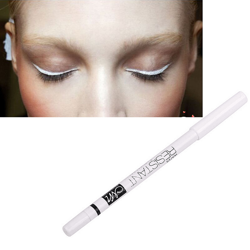 Eye Brighten Concealer Eyeliner Primer White Eyeliner Pencil Eye Make Up Waterproof Long Lasting Under Eyeshadow Primer New image