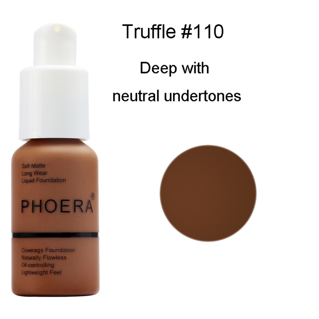 PHOERA 30ml Foundation Makeup Primer Whitening Concealer Moisturizer Long Wear Oil Control Liquid Foundation Base Makeup TSLM2 4