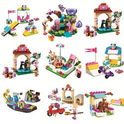 Girls Friends Series Mia Cat Play Pet House Building Blocks Bricks Toys Animals Emma Girls Lepining Friends Princess Toys