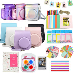 Case Stickers Frames Photo-Album Instant-Camera COLOR-FILTER Mini Protective-Bag 64-Pockets