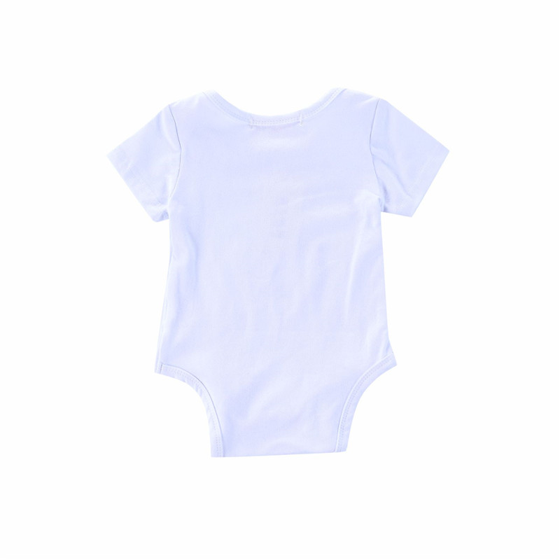 0 24M Infant Baby Boy Girl Bodysuits Short Sleeve Letter White Jumpsuits Outfit Newborn Romper Summer Clothes in Bodysuits from Mother Kids