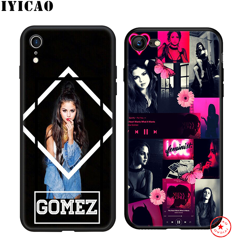 IYICAO Selena Gomez Soft Phone Case for iPhone 11 Pro XR X XS Max 6 6S 7 8 Plus 5 5S SE Silicone TPU 7 Plus in Fitted Cases from Cellphones Telecommunications