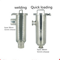 Free shipping 1.5'' Sanitary Stainless Steel TriClamp Filter 100 mesh
