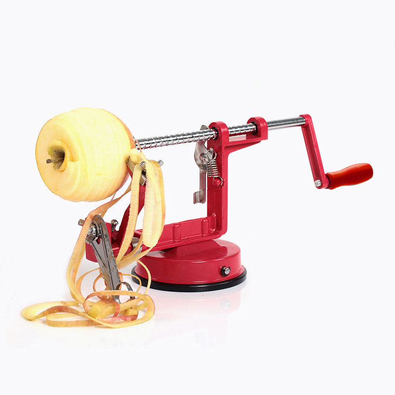 3 in 1 Stainless Steel hand-cranked Fruit Peeler With clipping Apple Potato Peeler Slicer Machine Kitchen Tools 30*10*13CM