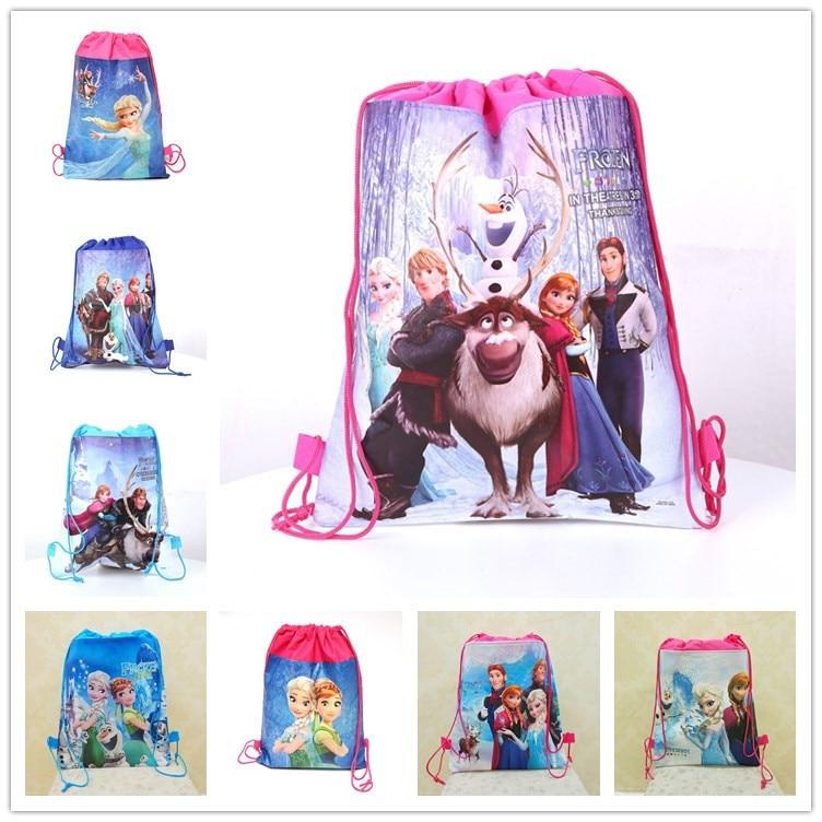 2020 NEW Disney Cartoon Bags Children Frozen Mickey Bag Storage Girl Boy Birthday Gift Pocket