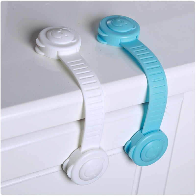 2 uds. Cerraduras de seguridad para niños para refrigeradores puerta seguridad para bebés protección contra niños bloqueo Castillo seguridad bloqueo candado