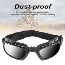 Pieghevole Occhiali Occhiali Da Moto Antivento Occhiali Da Sci Off Road Racing Occhiali Fascia Elastica Regolabile Anti radiante UV Cornice di Colore Degli Occhi
