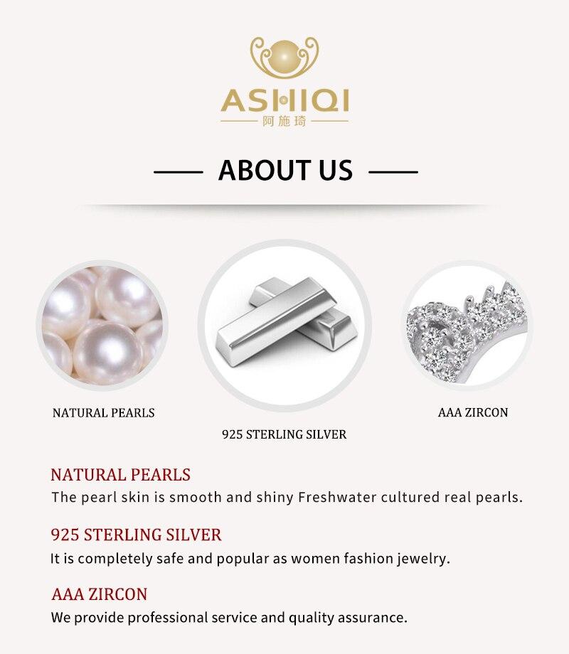 ASHIQI Naturel, Perle D'eau Douce, Boucles D'oreilles Pour Les Femmes, 925 En Argent Sterling,