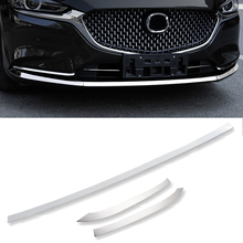 цена на For Mazda 6 Mazda6 Atenza 2019 2020 Car Cover Bumper Engine stainless steel Trims Front Bottom Grid Grill Grille Hoods Edge 3pcs