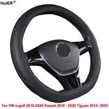 Steering-Wheel-Cover Car Passat E-Golf Volkswagen Huier D-Shape for VW Tiguan