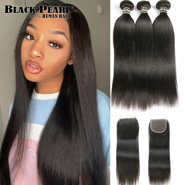 Black Pearl Pre-Colored 3 Bundles - Straight Human Hair 1