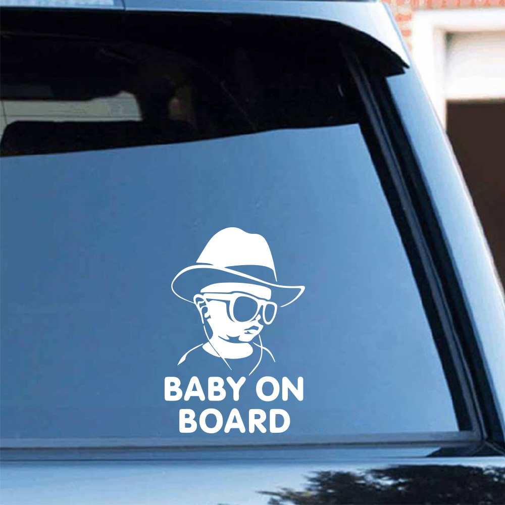 Drop Shipping Baby On Board Car Sticker Funny Window Vinyl Decals Car Styling Self Adhesive Emblem Car Stickers