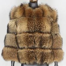 FURBELIEVE 2020 Natural Raccoon Fur Winter Jacket Women Big