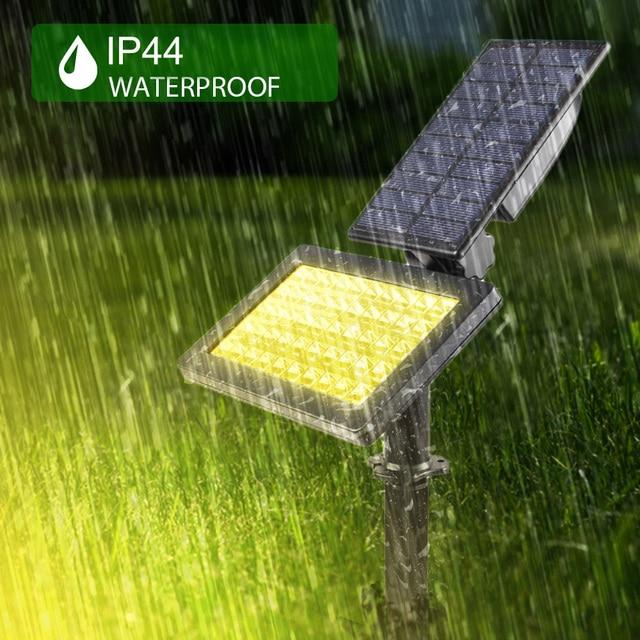 2 PACK Solar Spotlights 50 LED Outdoor Landscape Wall Light Waterproof IP44 Warm White 3500K Adjustable Solar Lights for Garden 5
