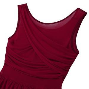 Image 5 - Балетные гимнастические леотарды для взрослых и женщин, платье пачка для танцев, женские балерины, современные лирические танцевальные юбки, одежда из шифона