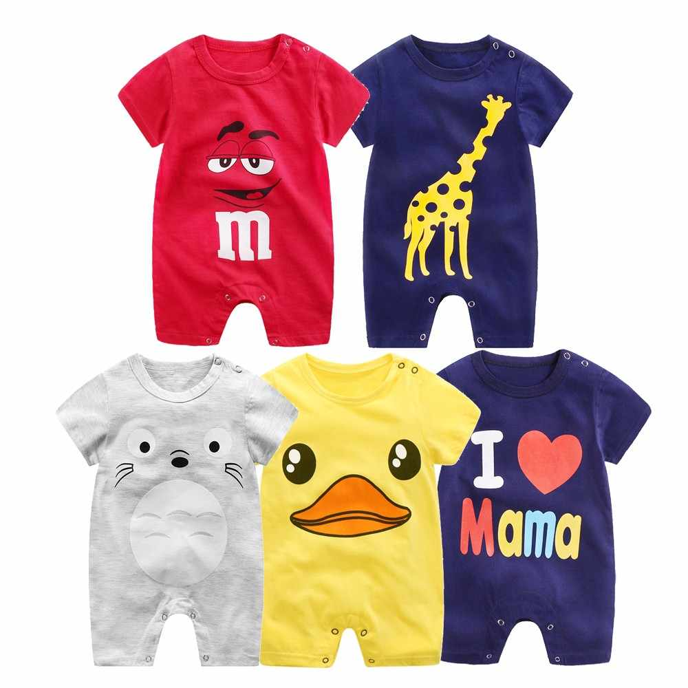 Toddler Infant Baby Girls Boys Short Sleeve Cute Cartoon Print jumpsuit Romper