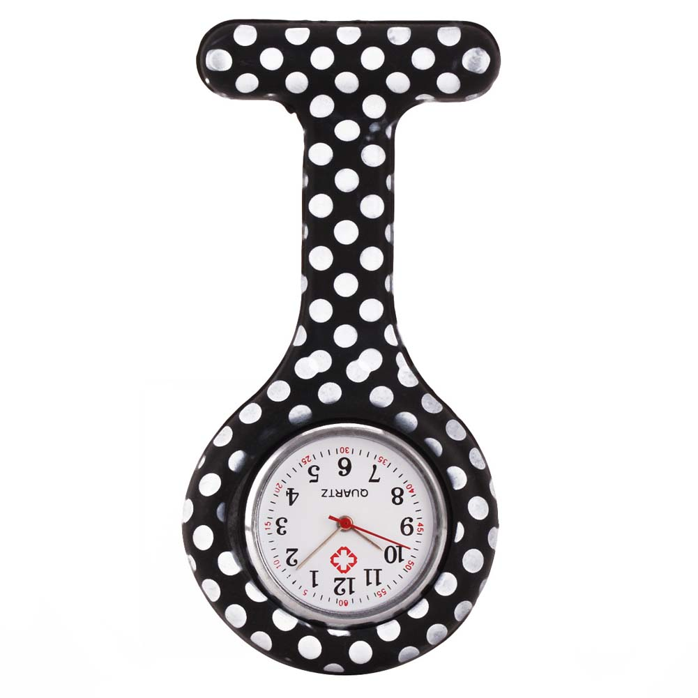 Nurse Watches Printed Style Clip-on Fob Brooch Pendant Pocket Hanging Doctor Nurses Medical Quartz Watch S55