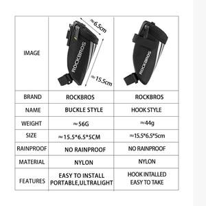 Image 2 - ROCKBROS Bike Bag Portable Reflective Saddle Bag Tail Seatpost Nylon Bicycle Bag MTB Road Bike Bag Panniers Bicycle Accessories