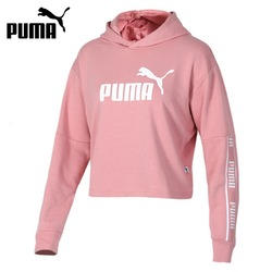 Оригинальное новое поступление Пума усиленное укороченное худи TR Женский пуловер толстовки спортивная одежда