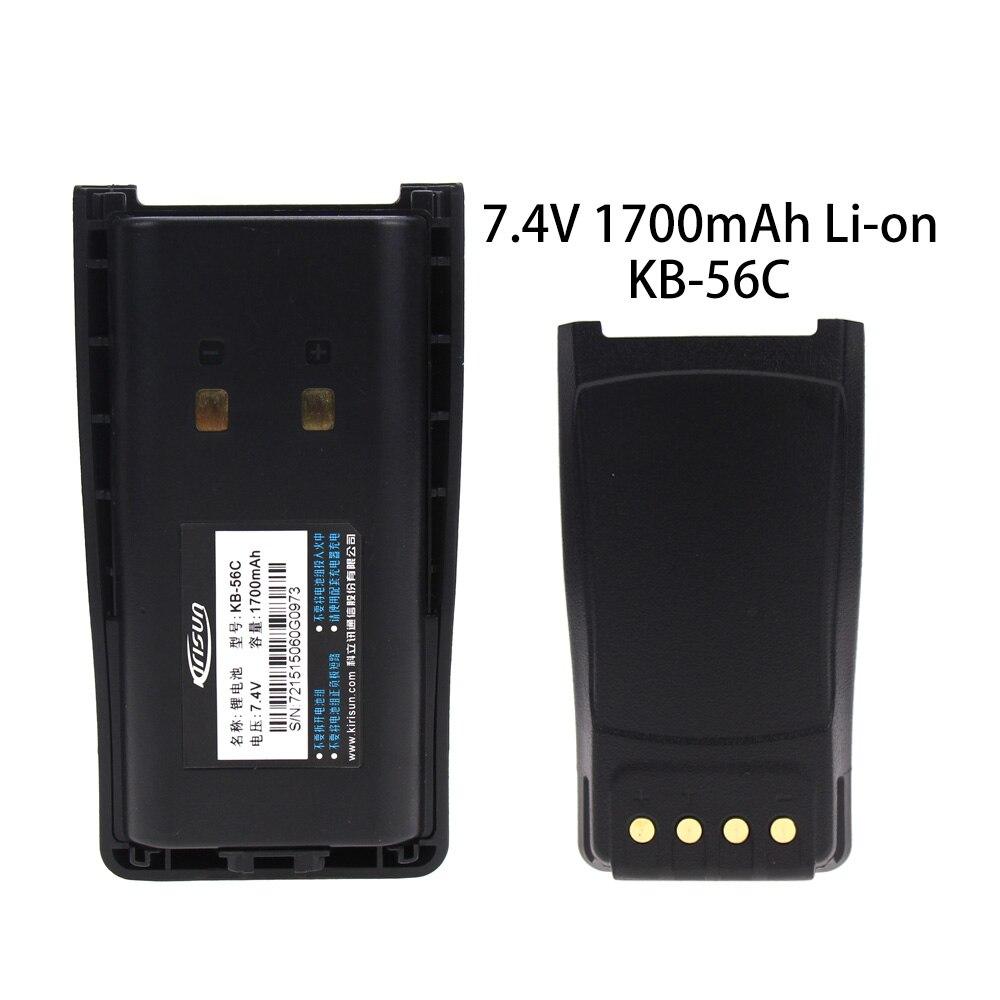 פינות אוכל החלפת סוללה עבור PT-560 KB-56 ג KBC-56 ג Li-on 1700mAh Kirisun FP-560 (1)