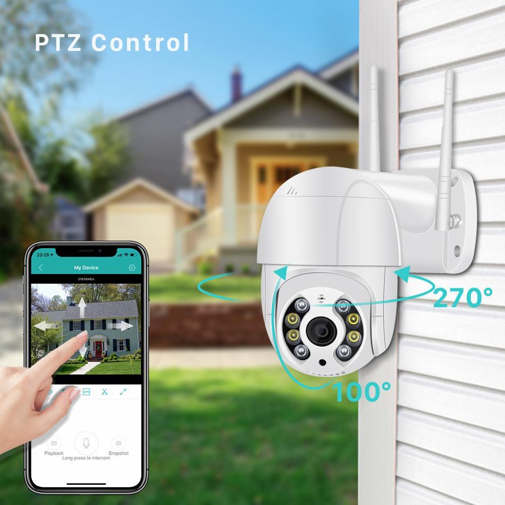 BESDER 5MP PTZ IP Camera Wifi Outdoor AI Human Detection Audio 1080P Wireless Security CCTV P2P RTSP 4X Digital Zoom Wifi Camera 6