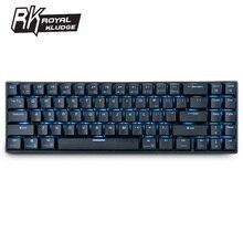 רויאל Kludge RK61 ארגונומי מקלדת Bluetooth מצב כפול 60% RGB אור מכאני משחקי Keyboardfor מחשב נייד Tablet