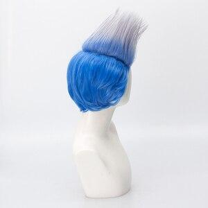 Image 3 - Мужской короткий парик, термостойкий парик из синтетических волос, вечерние парики для Хэллоуина