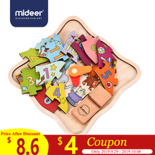 MiDeer Baby Puzzles Games 12PCS Clock Number 5mm Decorate Multi-Function Cognition Base Wooden Education Toys For Kids > 3Y цены