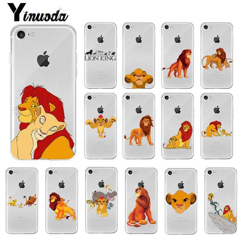 Yinuoda Lion King Simba Kartun Fashion Lembut Silicone Ponsel Case untuk iPhone 8 7 6 6S Plus X XS MAX 5 5S SE XR 10 Cover