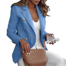 Button Ladies Blazer Woman 2019 Work Suit Women's Jacket Fem