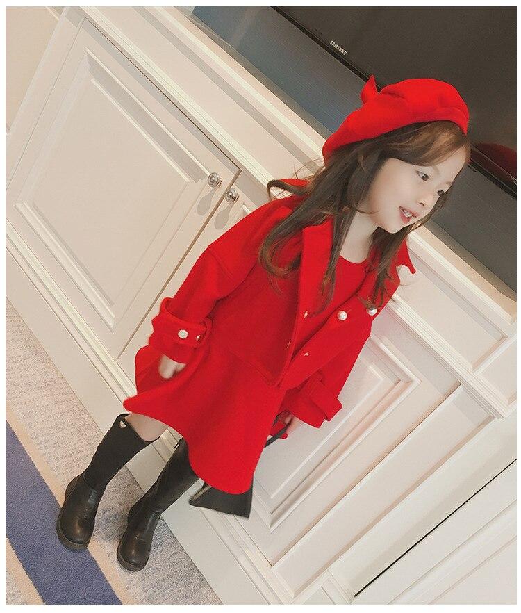 Children Girls Clothing Girls Winter Clothes 2019 Winter Baby Girls Warm Sleeveless Vest Dress +Woolen Jacket Coat 3PCS Sets (14)