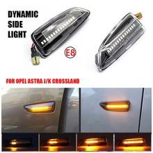 Opel Astra J için Astra J K Zafira C Insignia B Grandland X LED dinamik dönüş sinyali yan işaretleyici ışık sıralı flaşör lambası