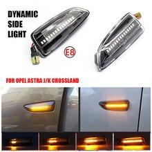 Pour Opel Astra J Astra J K Zafira C Insignes B Grandland X LED Clignotants Dynamiques Feu De Position Latéral Séquentielle Lampe Clignotant
