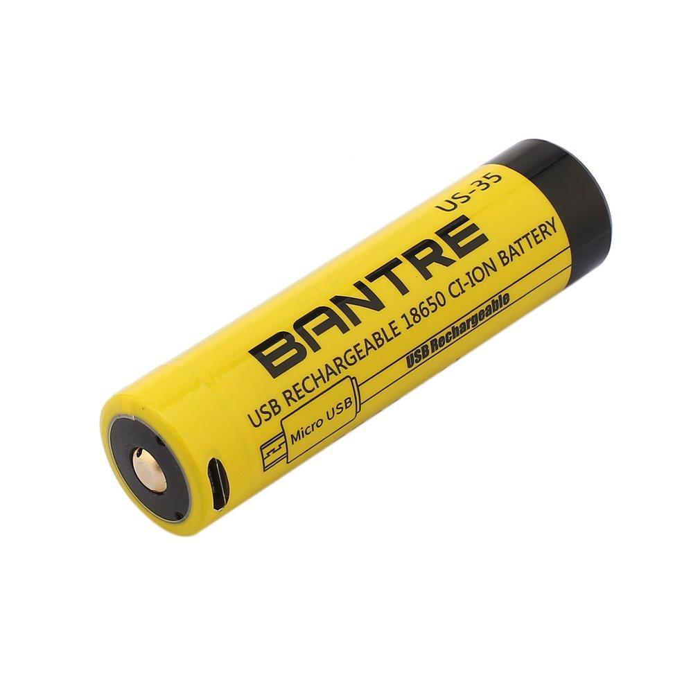 1 Pc BANTRE 18650 Li-ion Battery 3.6V 3500mAh Micro USB Rechargeable Battery LC