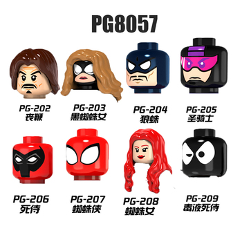 PG8057 Figures Heads Mysterio Nick Man MJ Gwen Prowler Miles Movie Series Bricks Far From Home Hero Building Toys For Kids image