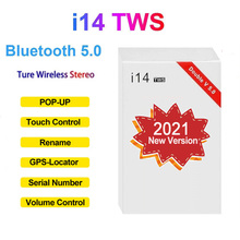 2021 new original i14 TWS wireless 5.0 bluetooth headset mini earbud sports headset high fidelity stereo PK air 12 20 pro max