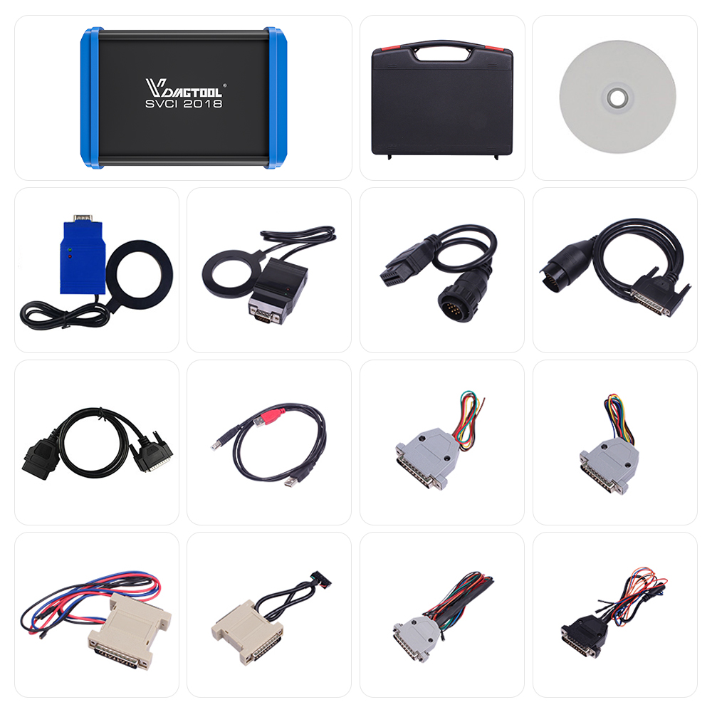 Car-Styling FVDI 2018 ABRITES Commander Scanner With 18 Software Diagnostic Tool 2015 2014 Version SVCI Key Programmer